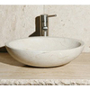 Allstone Crema Marfil Stone Vessel Oval Bathroom Sink