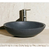 Allstone Black Lava Stone Vessel Oval Bathroom Sink