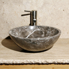 Allstone Moonscape Marble Vessel Round Bathroom Sink