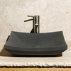 Allstone Black Lava Stone Vessel Rectangular Bathroom Sink