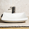 Allstone Crema Marfil Stone Vessel Rectangular Bathroom Sink