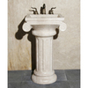 Allstone Cafe Blanc 34-in H Stone Complete Pedestal Sink