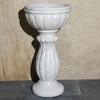Allstone Carrara 34-in H White Stone Complete Pedestal Sink