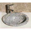Allstone Lathe Meridian Granite Drop-In Round Bathroom Sink