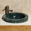 Allstone India Green Marble Drop-In Round Bathroom Sink