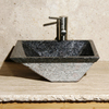 Allstone Night Rose Stone Vessel Rectangular Bathroom Sink