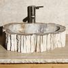 Allstone Whitewood Stone Vessel Round Bathroom Sink