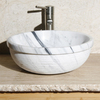 Allstone New Zebra Marble Vessel Round Bathroom Sink