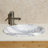 Allstone New Zebra Marble Oval Bathroom Sink