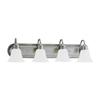 Sea Gull Lighting 4-Light Gladstone Antique Brushed Nickel Bathroom Vanity Light