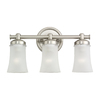 Sea Gull Lighting 3-Light Newport Antique Brushed Nickel Bathroom Vanity Light