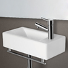 Alfi White Porcelain Wall-Mount Rectangular Bathroom Sink