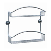 No Drilling Required 11-in H Adhesive Solid Brass Hanging Shower Caddy
