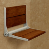 Health Craft Brazillian Walnut Wood Wall Mount Shower Chair