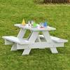 Dura-Trel 4-ft White Rectangle Kids Picnic Table