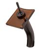 Novatto Waterfall Oil Rubbed Bronze 1-Handle Vessel Bathroom Faucet