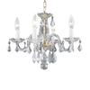 Elegant Lighting Rococo 4-Light Gold Crystal Chandelier
