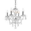 Elegant Lighting Princeton 4-Light Chrome Crystal Chandelier