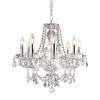 Elegant Lighting Princeton 8-Light Chrome Crystal Chandelier