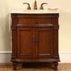 Silkroad Exclusive Esther Cherry Undermount Single Sink Bathroom Vanity with Top (Common: 31-in x 22-in; Actual: 30.5-in x 22-in)