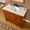 Silkroad Exclusive Frances Cherry Undermount Single Sink Bathroom Vanity with Top (Common: 42-in x 22-in; Actual: 42-in x 22-in)