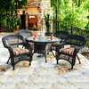 Tortuga Outdoor Portside 5-Piece Glass Patio Dining Set
