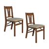 Stakmore Set of 2 Indoor Wood Urn Back Cherry Standard Folding Chairs