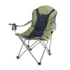Picnic Time Sage Green Steel Folding Camping Chair