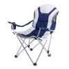 Picnic Time Navy Steel Folding Camping Chair