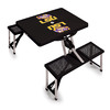 Picnic Time 2-ft 1-4/5-in Black Louisiana State University Tigers Plastic Square Folding Picnic Table