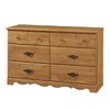 South Shore Furniture Prairie Country Pine 6-Drawer Dresser