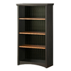 South Shore Furniture Gascony Spice Wood/Ebony 31.5-in W x 58.25-in H x 13-in D 4-Shelf Bookcase