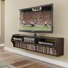 Prepac Furniture Altus Espresso Rectangular Wall-Mount Television Stand