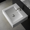Nameeks Scarabeo White Wall-Mount Rectangular Bathroom Sink with Overflow