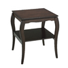 Office Star OSP Designs Brighton Espresso Rubberwood Square End Table