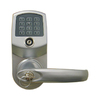 Lockstate LS Satin Nickel Single-Cylinder Motorized Electronic Entry Door Handleset