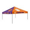 Logo Chairs 9-ft W x 9-ft L Square NCAA Clemson University Tigers Purple/Orange Steel Pop-Up Canopy