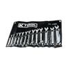 K Tool International 13-Piece Standard Polished Chrome Metric Wrench Set