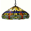 Chloe Lighting Dragonfly 24-in W Tiffany-Style Pendant Light with Glass Shade