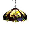 Chloe Lighting Victorian 18-in W Tiffany-Style Pendant Light with Glass Shade
