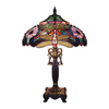 Chloe Lighting Dragonfly 27-in Golden/Black Tiffany-Style Indoor Table Lamp with Glass Shade