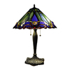 Chloe Lighting Victorian 26-in Bronze Tiffany-Style Indoor Table Lamp with Glass Shade