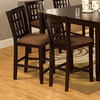 Furniture of America Set of 2 Eleanor Espresso 25.5-in Counter Stools
