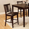 Furniture of America Set of 2 Bridgette Espresso 25.5-in Counter Stools
