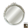 Hickory Manor House Rose 30-in x 31-in Verona Round Framed Wall Mirror