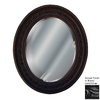 Hickory Manor House Antique Leaf 24-in x 29-in Black/Gold/Silver Beveled Oval Framed Wall Mirror
