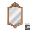 Hickory Manor House 18Th Century 25-in x 42-in Gilt Silver Beveled Rectangle Framed Wall Mirror