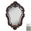 Hickory Manor House Curved 22-in x 33.5-in Antique White Diamond Framed French Wall Mirror