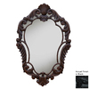 Hickory Manor House Curved 22-in x 33.5-in Black Polished Diamond Framed French Wall Mirror