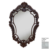 Hickory Manor House Curved 22-in x 33.5-in Bright White Polished Diamond Framed French Wall Mirror